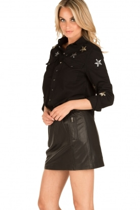 Zoe Karssen | Spijkerblouse sterren | zwart