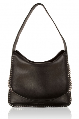 Leather hand bag Hobo Astor | black