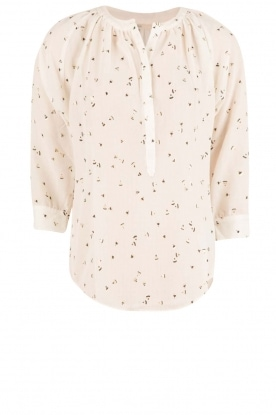 Sessun |  Semi-sheer blouse Airlines | white