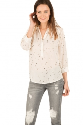 Sessun   Semi-sheer blouse Airlines   wit