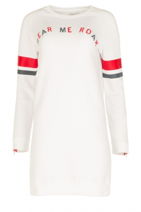 Zoe Karssen | Lange sweater Hear Me Roar | wit