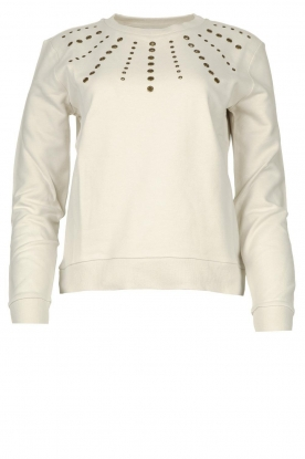 Patrizia Pepe | Sweater with studs Clay | naturel