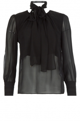 ELISABETTA FRANCHI |  Blouse with bow Sorella | Black