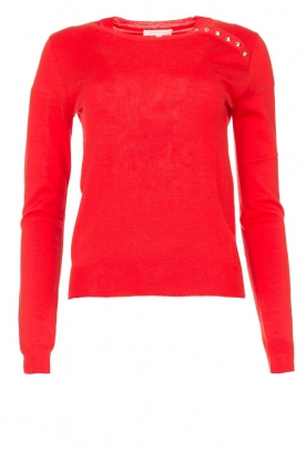 Patrizia Pepe | Sweater with button details Towy | red