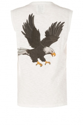 Zoe Karssen | Mouwloos shirt Adelaar  | wit Sleeveless shirt Eagle | white