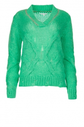 Patrizia Pepe | Sweater with chain detail Colinda | green