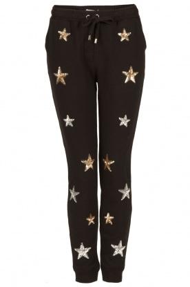 Zoe Karssen | Sweatpants Sequin Stars | zwart