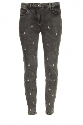 Patrizia Pepe | Skinny jeans with logo embroideries Ray | grey