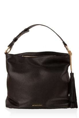 Leather shoulder bag Elyse | black