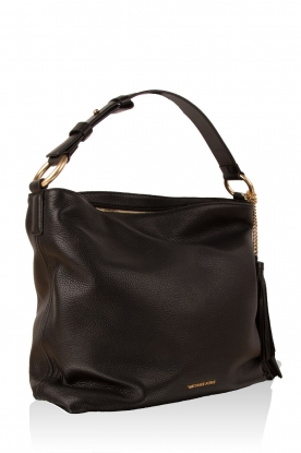 Leather shoulder bag Elyse | black