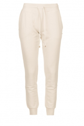 Patrizia Pepe | Sweatpants with decorations on the sides Louise | naturel