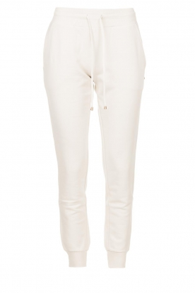 Patrizia Pepe | Sweatpants with eyelets Louise | naturel
