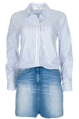 ELISABETTA FRANCHI |  Set of skirt and blouse Cira | blue