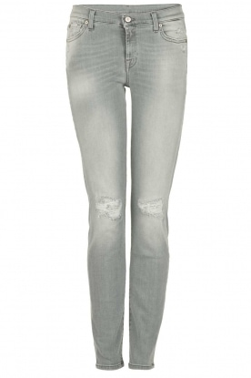 7 For All Mankind | Distressed skinny jeans Slim Illusion lengtemaat 30 | grijs