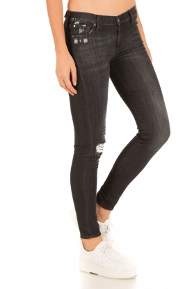 7 For All Mankind | Skinny jeans The Skinny | zwart