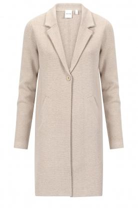 Knit-ted |  Blazer cardigan Sammie | beige