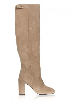 Patrizia Pepe |  Suede knee boots Sarella | beige