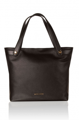 Leather shoulder bag Hyland | black