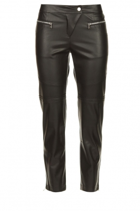 Patrizia Pepe | Faux leather pants Misty | black