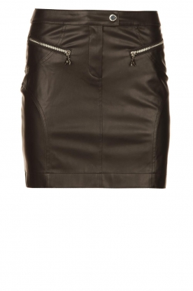 Patrizia Pepe | Faux leather skirt Caro | black