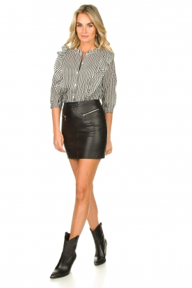 Look Faux leather skirt Caro