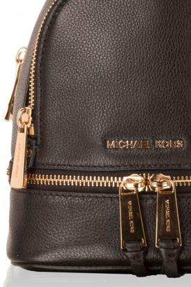 MICHAEL Michael Kors | Leren Mini rugzak Rhea Zip | zwart