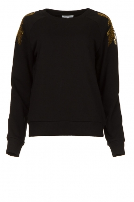 Patrizia Pepe | Sweatshirt with sequins Yana | black