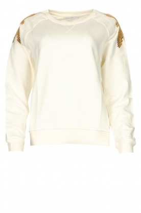 Patrizia Pepe | Sweater with sequins Sanna | white