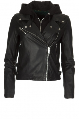 IKKS |  Leather jacket Sarah | black