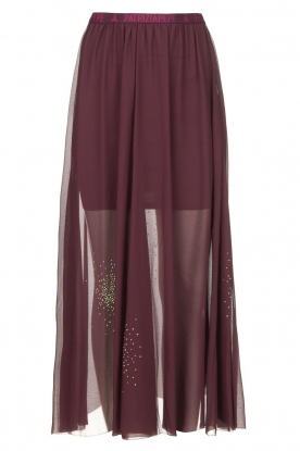 Patrizia Pepe | See-through skirt with rhinestones Lana | purple