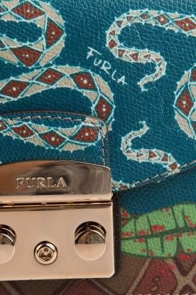 Furla | Leren schoudertas Metropolis Mini | blauw