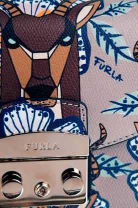 Furla | Leren schoudertas Metropolis Mini | bruin