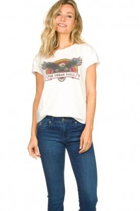 Set |  Cotton T-shirt with print Adeline | white
