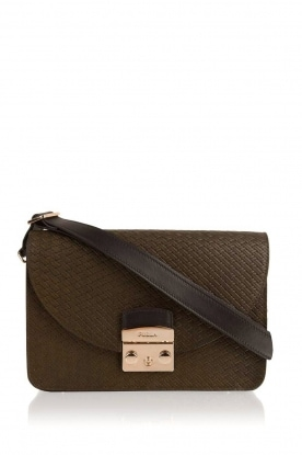 Furla |  Woven shoulder bag Metropolis | green