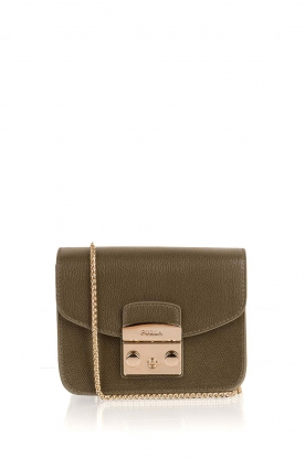 Furla | Leather shoulder bag Metropolis Mini | green
