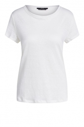 Set | Basic linen T-shirt Anna | white