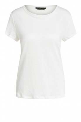 Set |Basic linnen T-shirt Anna | wit
