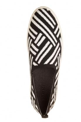 What For   Slip on schoenen Carla   Zwart