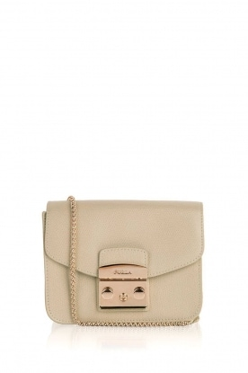 Furla |  Leather shoulder bag Metropolis Mini | wit