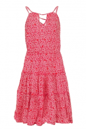 BEACHGOLD |  Dress with floral print Sia | red