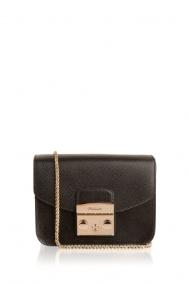 Furla |  Leather shoulder bag Metropolis Mini | black