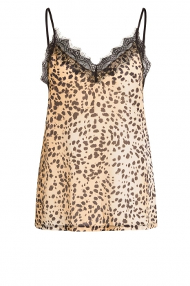 Set | Sleeveless top with lace Aletta | animal print