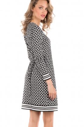 Wrap dress Bermont | black & white