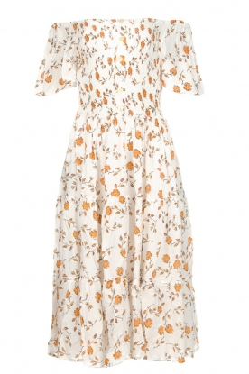BEACHGOLD |  Dress with sunflower print Jenny | natural