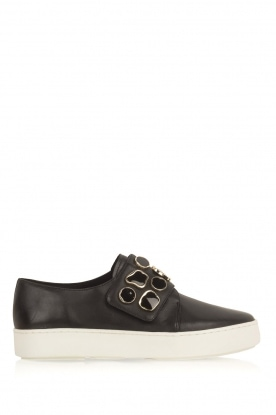 What For |  Sneakers Auguste with decorative stones | Black