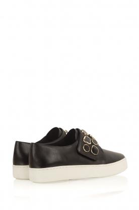 What For | Sneakers Auguste met decoratieve stenen | Zwart