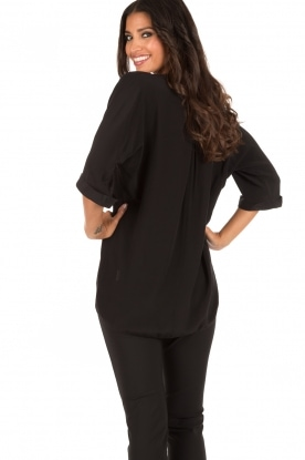 DAY Birger et Mikkelsen | Zijden blouse Fan | zwart