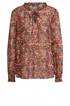 Set | Floral blouse Amory | red