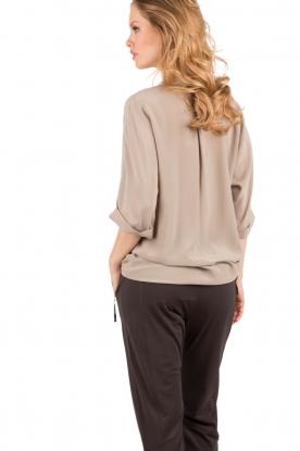 Silk blouse Fan | khaki