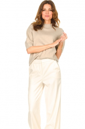 Knit-ted |  Knitted sweater Yara | beige